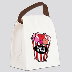 bucket of love png Canvas Lunch Bag