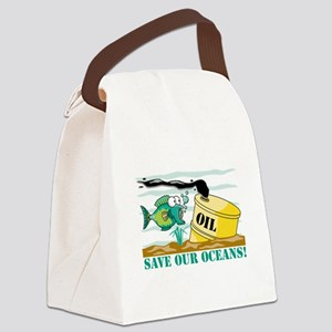 SAVE OUR OCEANS Canvas Lunch Bag