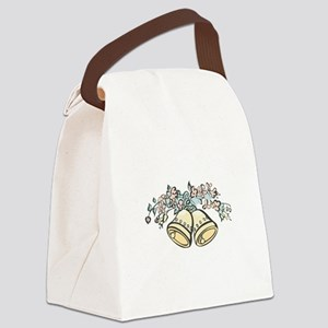 bells and flowers copy Canvas Lunch Bag