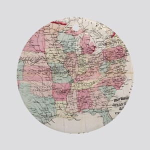 Vintage United States Map (1870) Round Ornament