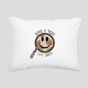 cow day smiley copy Rectangular Canvas Pillow