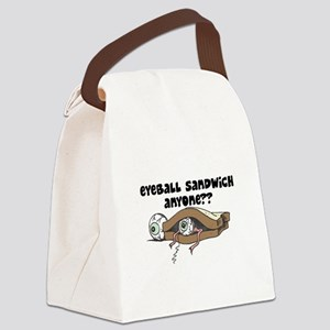 eyeball sandwich copy Canvas Lunch Bag