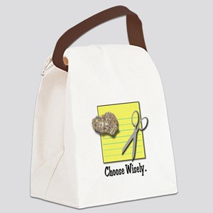 choose wisely black Canvas Lunch Bag
