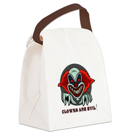 scary clown Canvas Lunch Bag