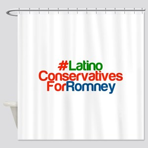 Latino Conservatives For Romney Shower Curtain