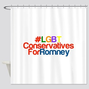 LGBT Conservatives For Romney Shower Curtain