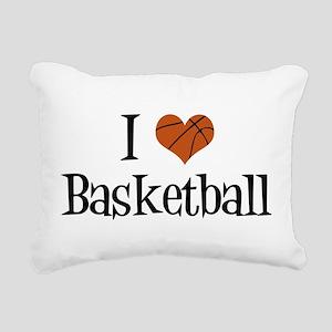 I Heart Basketball Rectangular Canvas Pillow