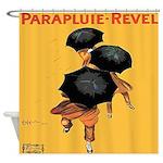 Vintage Cappiello Umbrella Shower Curtain