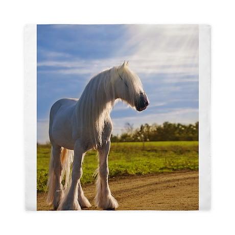 big shire horse Queen Duvet