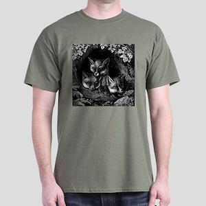 Vintage Foxes Dark T-Shirt