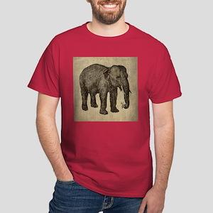 Vintage Elephant Dark T-Shirt