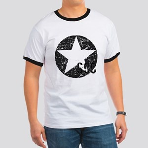 Star Shield Gray Ringer T