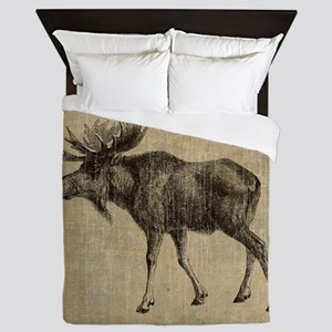 Vintage Moose Queen Duvet