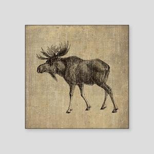 "Vintage Moose Square Sticker 3"" x 3"""