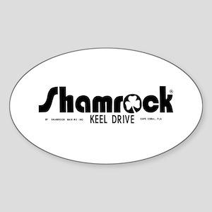 SHAMROCK LOGO 1 BLACK Sticker (Oval)