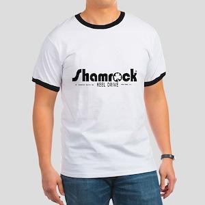 SHAMROCK LOGO 1 BLACK Ringer T