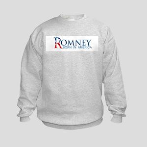 Romney: Born in America Kids Sweatshirt