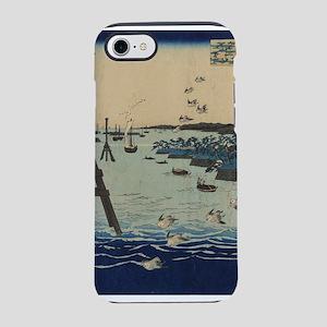 View of Shiba Coast - Hiroshige Ando - 1856 iPhone