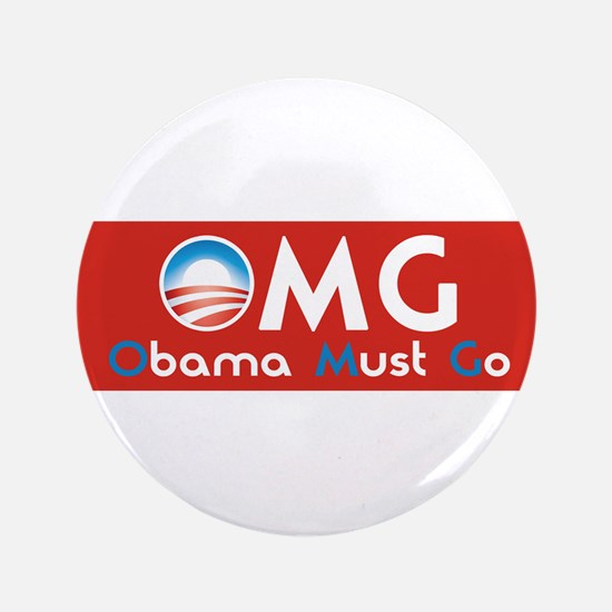 """Obama Must Go 3.5"""" Button (100 pack)"""