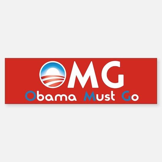 Obama Must Go Sticker (Bumper)