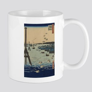 View of Shiba Coast - Hiroshige Ando - 1856 Mugs