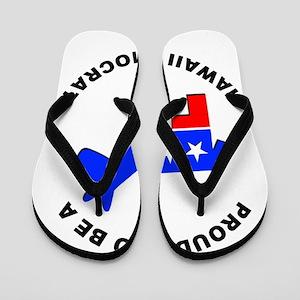 Hawaii Democrat Pride Flip Flops