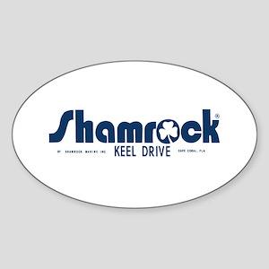 SHAMROCK LOGO 1 BLUE Sticker (Oval)