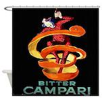 Vintage Italian Cappiello Campari Shower Curtain