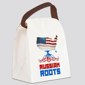 American Russian Roots Canvas Lunch Bag
