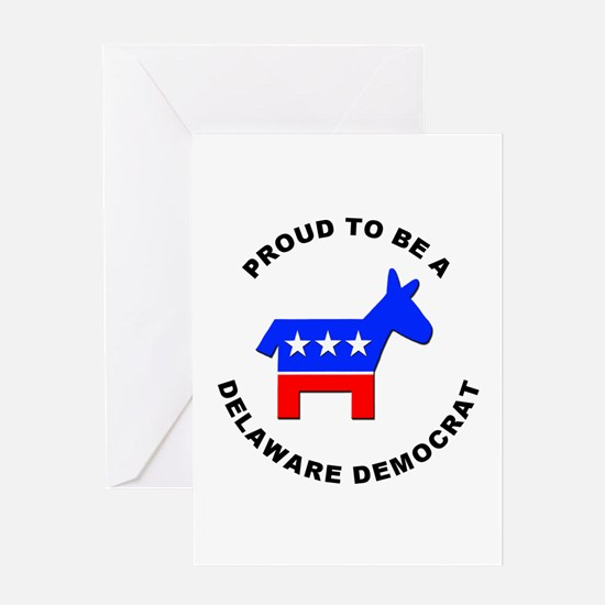 Delaware Democrat Pride Greeting Card