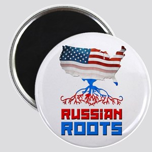 American Russian Roots Magnet