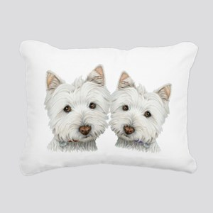 Two Cute West Highland White Dogs Rectangular Canv