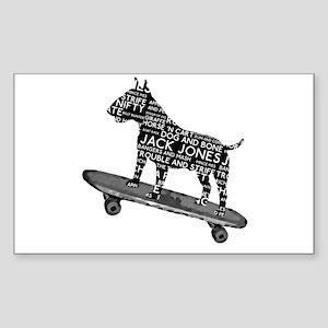 Vintage Bull Terrier Skateboarding London Slang St