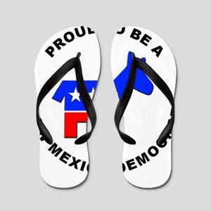 New Mexico Democrat Pride Flip Flops