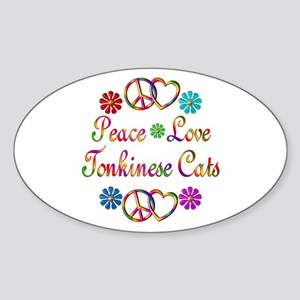 Tonkinese Cats Sticker (Oval)