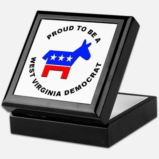 West Virginia Democrat Pride Keepsake Box