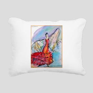 Flamenco dancer, art! Rectangular Canvas Pillow