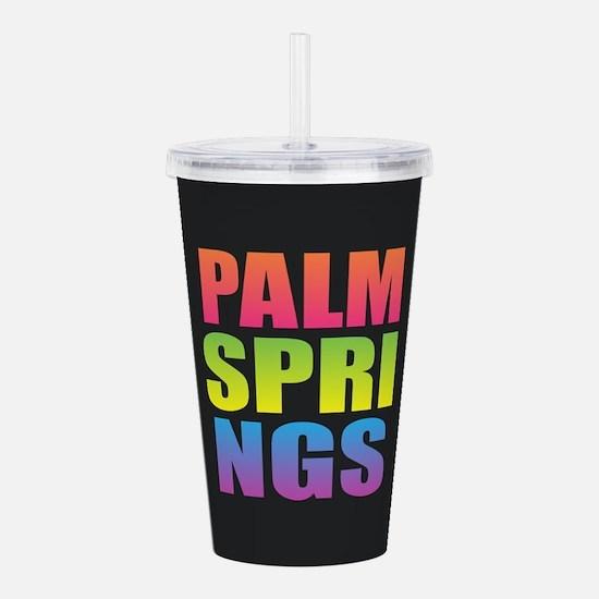 Palm Springs Black Rai Acrylic Double-wall Tumbler