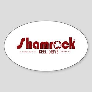 SHAMROCK LOGO 1 RED Sticker (Oval)