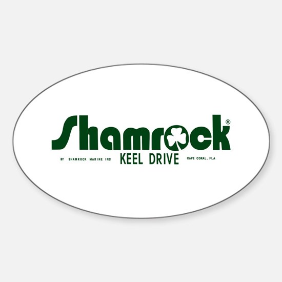 SHAMROCK LOGO 1 GREEN Sticker (Oval)