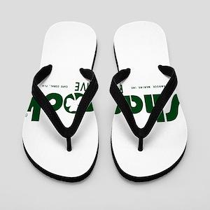 SHAMROCK LOGO 1 GREEN Flip Flops