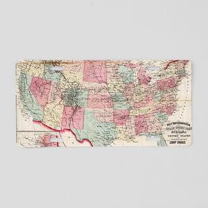 Vintage United States Map ( Aluminum License Plate