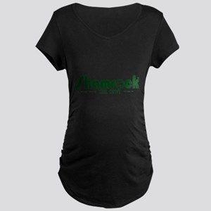 SHAMROCK LOGO 1 GREEN Maternity Dark T-Shirt