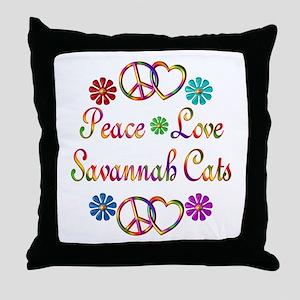 Savannah Cats Throw Pillow