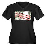 Women's Plus Size V-Neck T-Shirt (black) 4