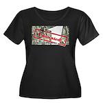 Women's Plus Size Scoop Neck T-Shirt (black) 4