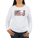 Women's Long Sleeve T-Shirt (white) 4