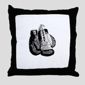 Vintage 8oz Boxing Gloves Throw Pillow