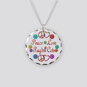 Ragdoll Cats Necklace Circle Charm