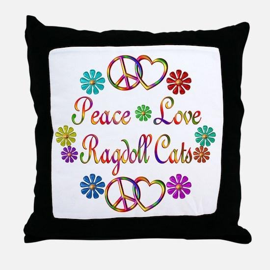 Ragdoll Cats Throw Pillow